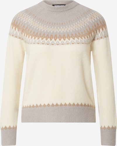 Fashion Union Pull-over 'Fairy' en beige / gris, Vue avec produit