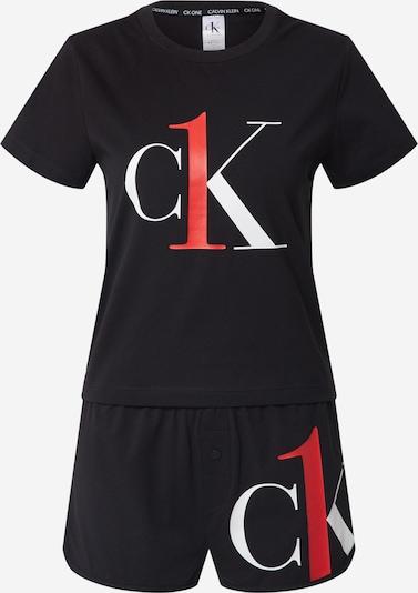 Pižama iš Calvin Klein Underwear , spalva - šviesiai raudona / juoda / balta, Prekių apžvalga