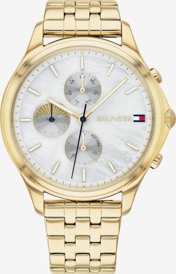 TOMMY HILFIGER Uhr in gold / weiß, Produktansicht