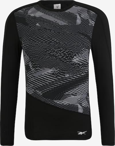 REEBOK Shirt 'TS LS Comp - AO' in dunkelgrau / schwarz, Produktansicht