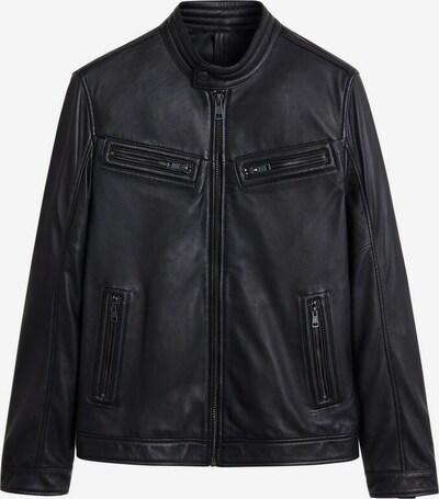 MANGO MAN Veste mi-saison 'he cuir' en noir, Vue avec produit