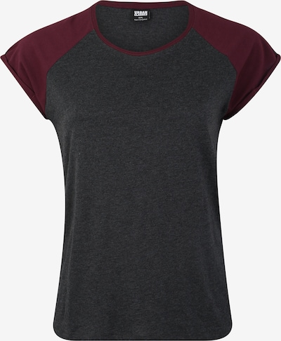 Urban Classics Curvy T-Shirt in dunkelgrau / weinrot, Produktansicht