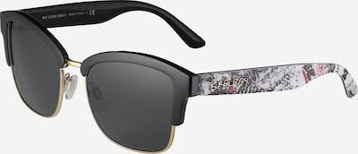 BURBERRY Zonnebril in de kleur Zwart / Wit, Productweergave