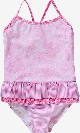 petit amour Badeanzug in rosa / pitaya / weiß, Produktansicht