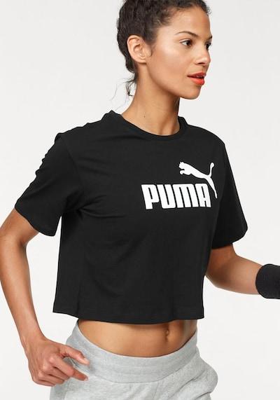 PUMA Shirt 'Elevated' in schwarz / weiß: Frontalansicht