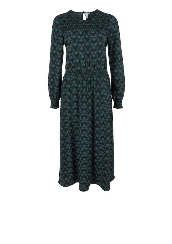 Designed In Qs Schwarz Kleid Smaragd By 0wNn8vm