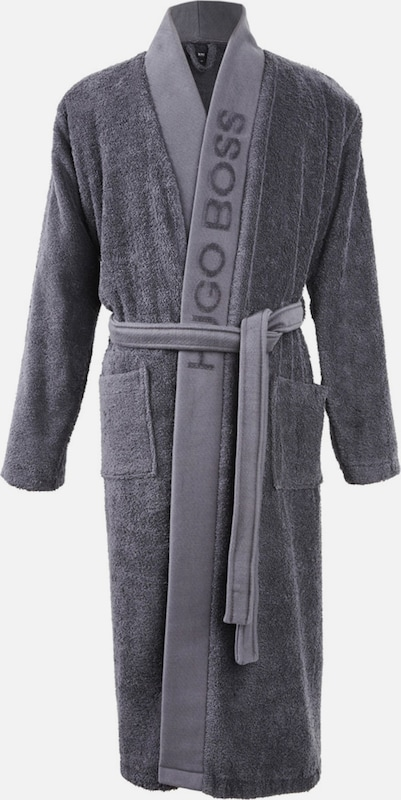 BOSS Home Kimono 'PLAIN' in grau / graphit, Produktansicht