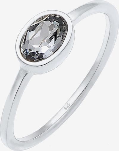 ELLI Prsten 'Oval' u crna / srebro, Pregled proizvoda