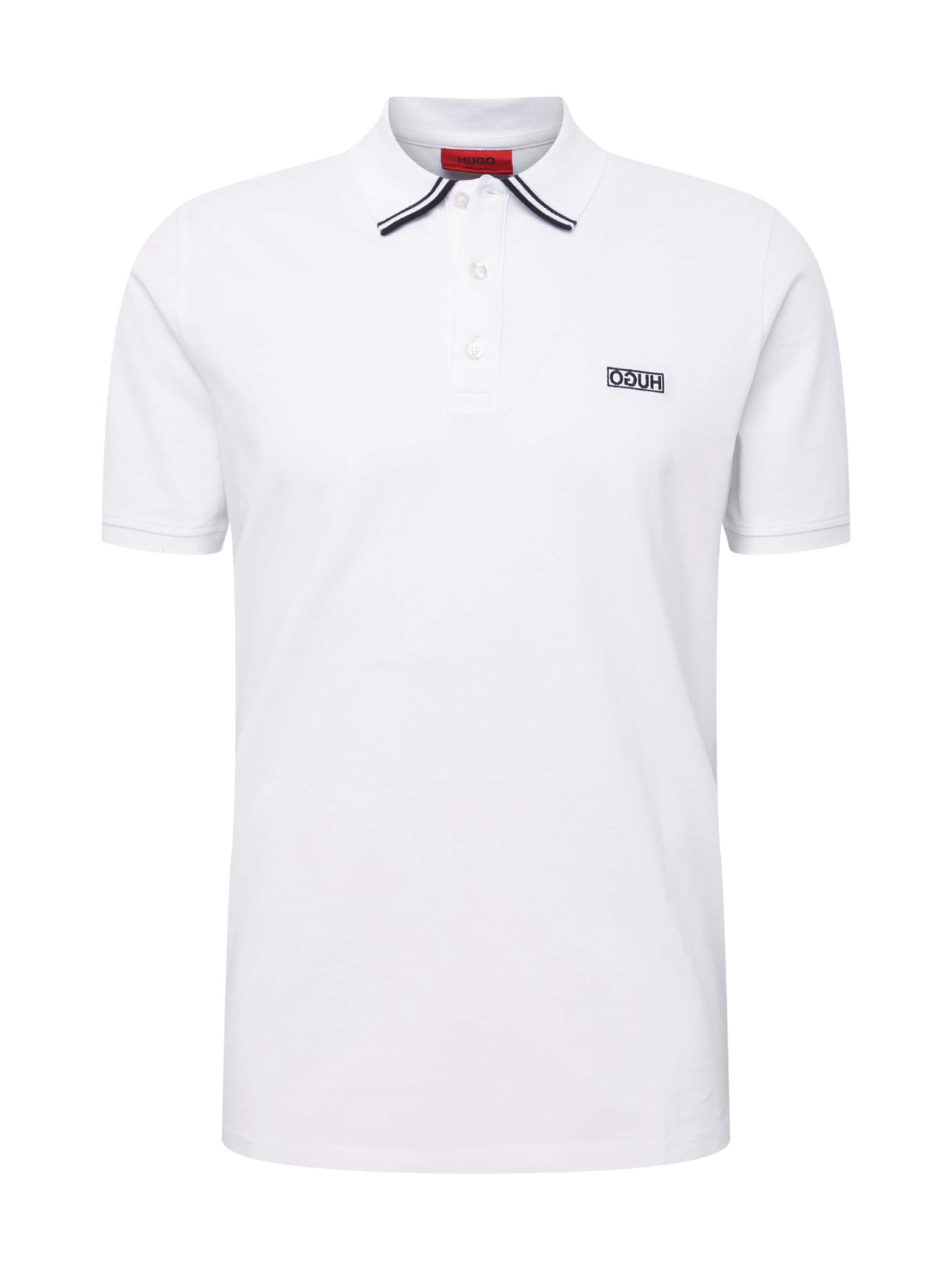 SchwarzWeiß Poloshirt In 'dyler' Hugo Hugo 2EIHW9DY