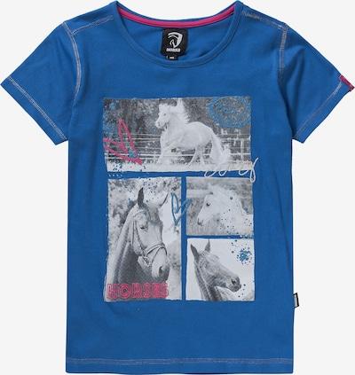 HORKA T-Shirt in blau / hellgrau / dunkelpink, Produktansicht