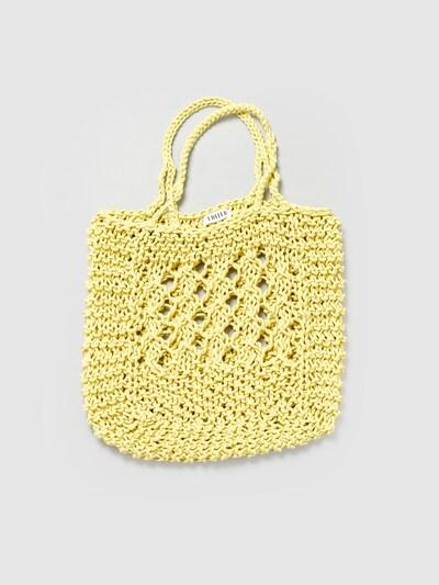 EDITED Nákupní taška 'Leycie' - zelená: Pohled zepředu
