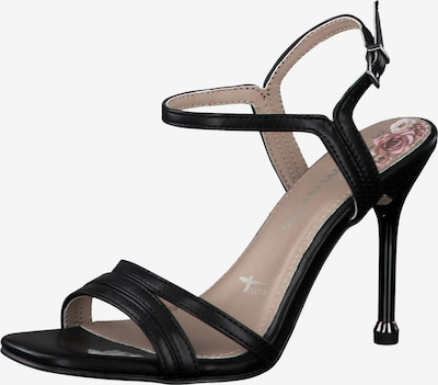 TAMARIS Sandale in schwarz: Frontalansicht
