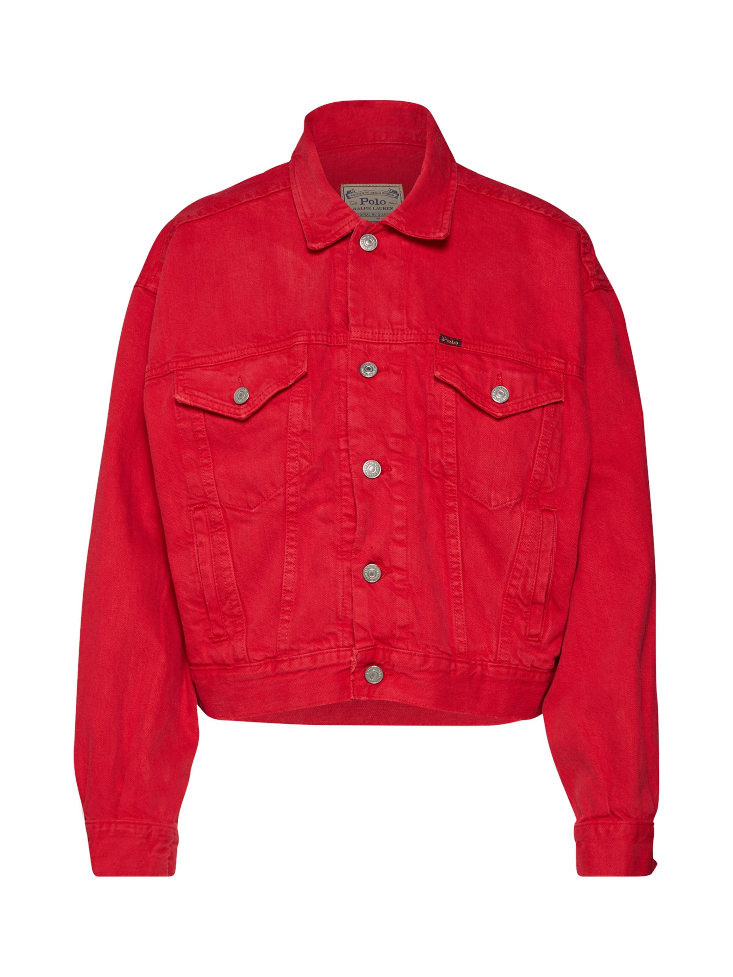 In Ralph saison Polo Mi 'rlxd LaurenVeste Trucker jacket' denim Rouge tQrCdshx