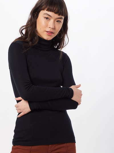 MOSS COPENHAGEN Shirt 'Mona' in de kleur Zwart: Vooraanzicht