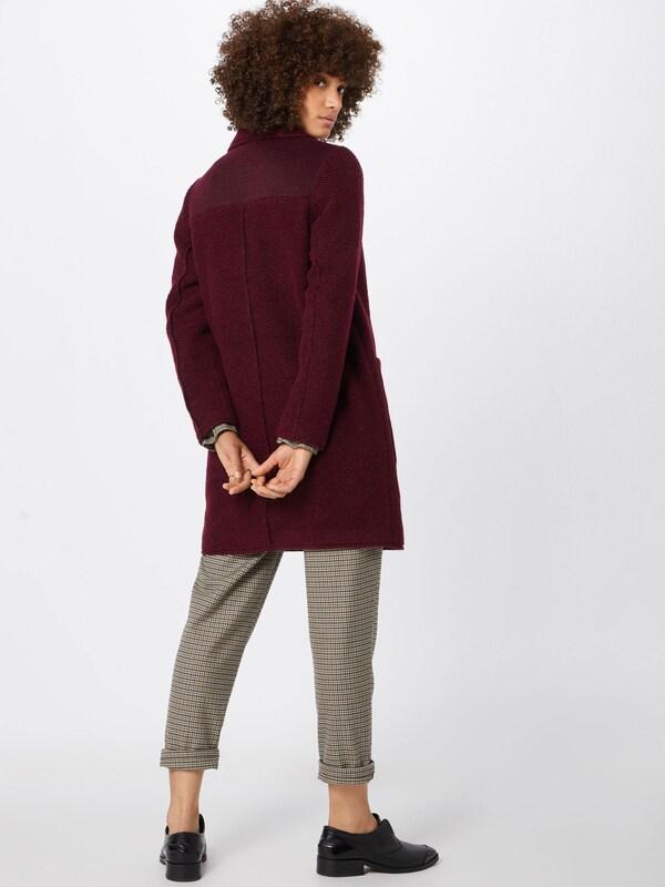 By Wool' Manteau Esprit Bordeaux Edc D'hiver En 'knitted qzMUpVS