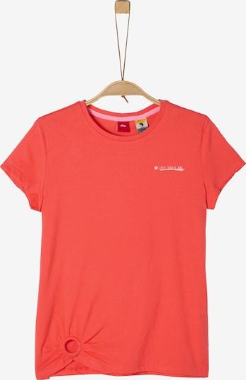 s.Oliver T-Shirt in hellrot / weiß, Produktansicht