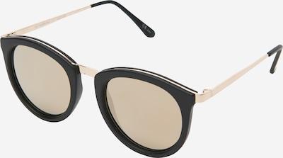 LE SPECS Zonnebril 'No Smirking' in de kleur Goud / Zwart, Productweergave