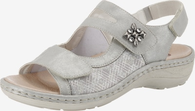 REMONTE Sandale in hellgrau / silber, Produktansicht