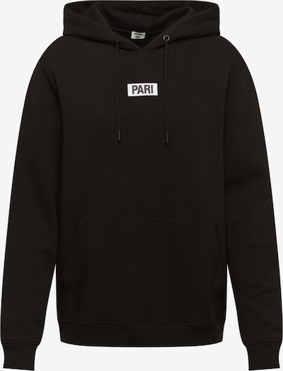ABOUT YOU X PARI Hoodie 'Mick' in schwarz / weiß, Produktansicht
