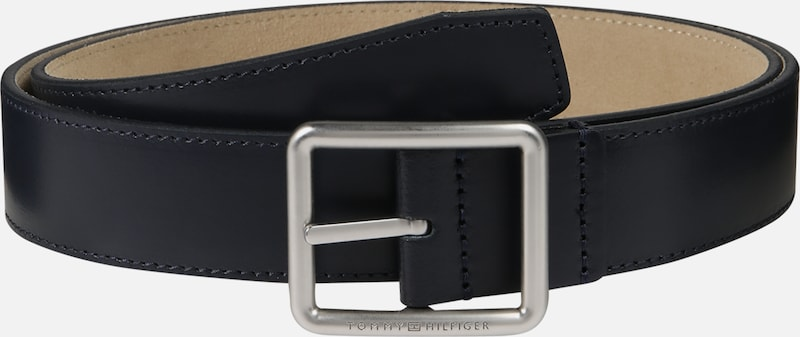 TOMMY HILFIGER Gürtel 'Downtown Rev Leather Belt 3.5' in dunkelblau, Produktansicht