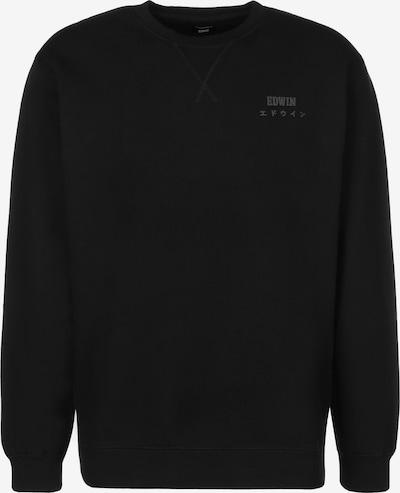 EDWIN Sweatshirt 'Base Crew' in de kleur Zwart, Productweergave