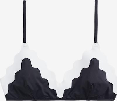 MANGO Bralette 'TOP WAVES' in schwarz / weiß, Produktansicht