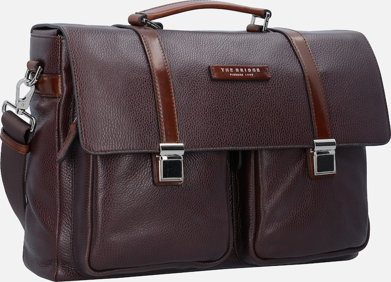 The Bridge Jazz Messenger Businesstasche Leder 40 cm Laptopfach