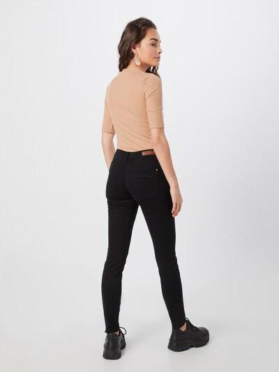 Pantaloni 'JDYANICA SKINNY RW PUSH UP PNT' JACQUELINE de YONG pe negru: Privire spate