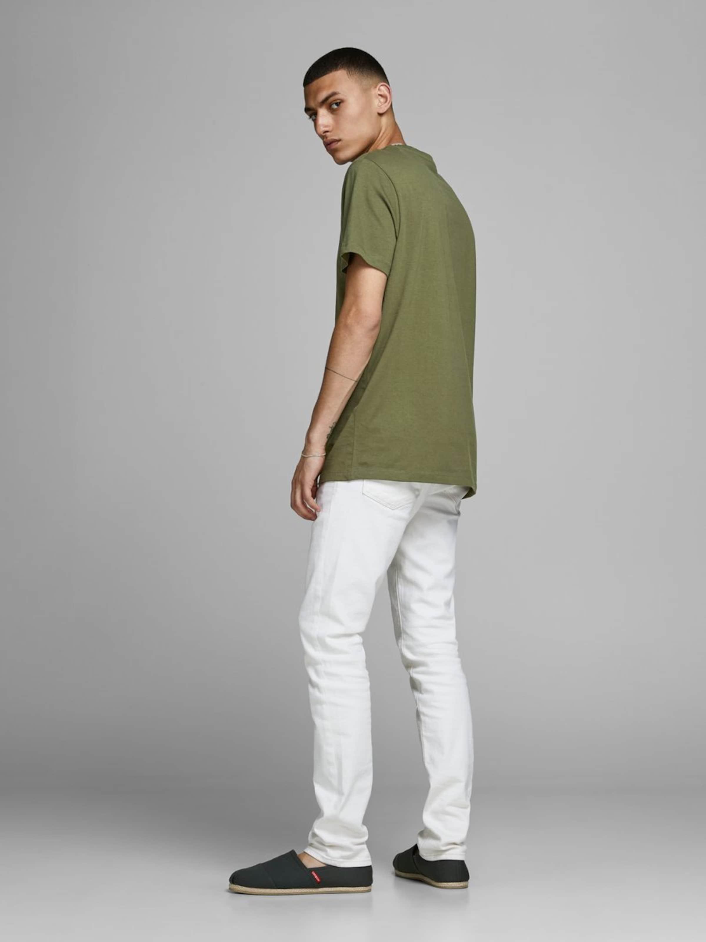 Jones Jackamp; OlivPerlweiß In T shirt n0wmO8yvN