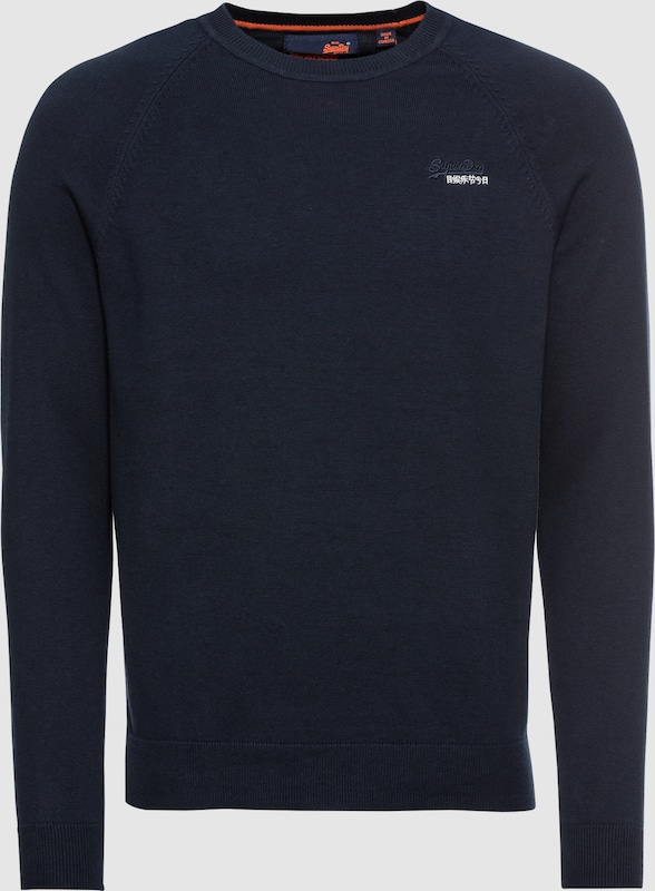 Superdry Pullover 'Orange LABEL VEE' in navy  Mode neue Kleidung