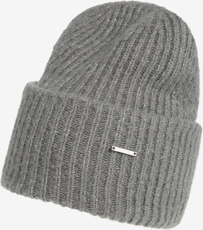 STREET ONE Mütze 'Solid Rib Knit Hat' in grau, Produktansicht
