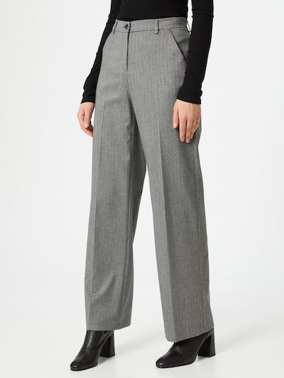 BRAX Pantalon à plis en gris: Vue de face