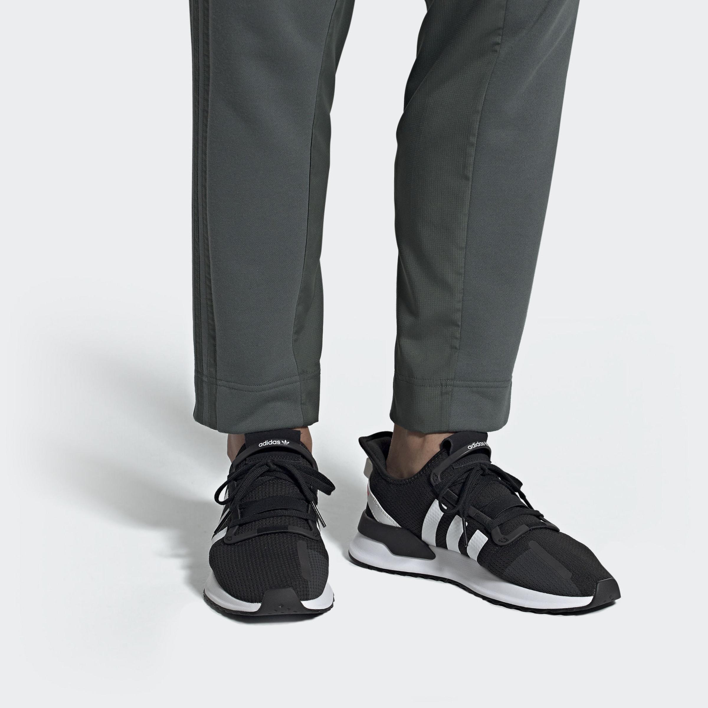 En path NoirBlanc Adidas Basses 'u Baskets Run' Originals N0X8wOnPk