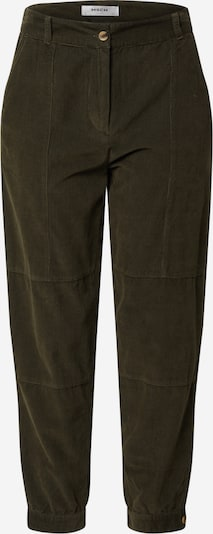 MOSS COPENHAGEN Trousers with creases 'Frea' in dark green, Item view