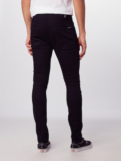 7 for all mankind Jeans 'RONNIE LUXE PERFORMANCE' in schwarz: Rückansicht