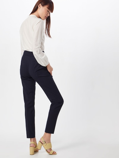 HUGO Pantalon à plis en bleu marine: Vue de dos