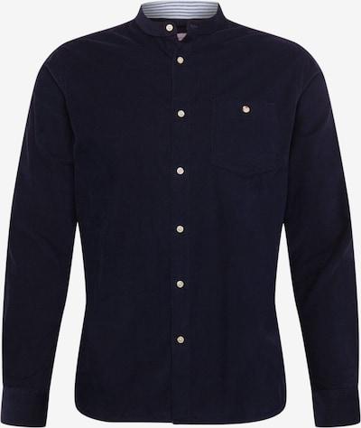 KnowledgeCotton Apparel Chemise 'Baby Cord Shirt Stand collar ' en bleu foncé, Vue avec produit