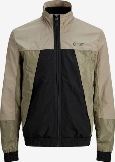 JACK & JONES Bomberjacke 'Colourblocking' in beige / schwarz, Produktansicht