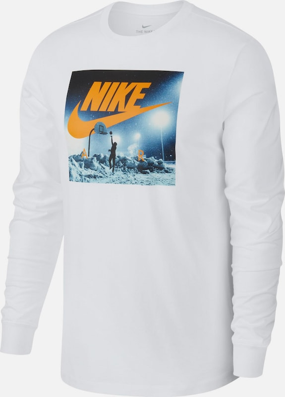 Nike Sportswear Shirt 'NSW Sprt Crt 2' in orange / weiß, Produktansicht