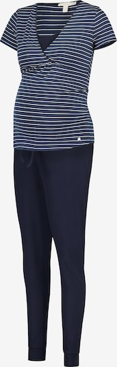 Esprit Maternity Pyjama en bleu marine / blanc, Vue avec produit