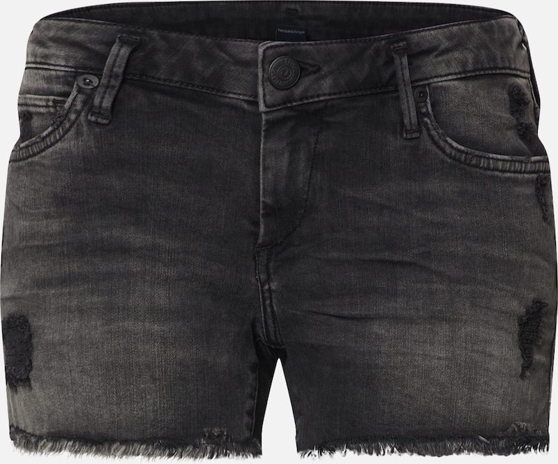 True Religion Shorts 'JOEY' in black denim, Produktansicht
