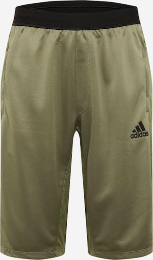 ADIDAS PERFORMANCE Pantalon de sport en kaki / noir, Vue avec produit
