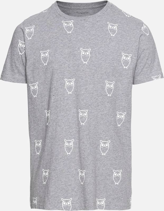 Big shirt Over 'all Apparel Gris En Knowledgecotton T Owl' UMSVpqzG
