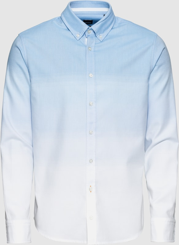 BOSS Hemd 'Mabsoo' in hellblau   weiß  Großer Rabatt