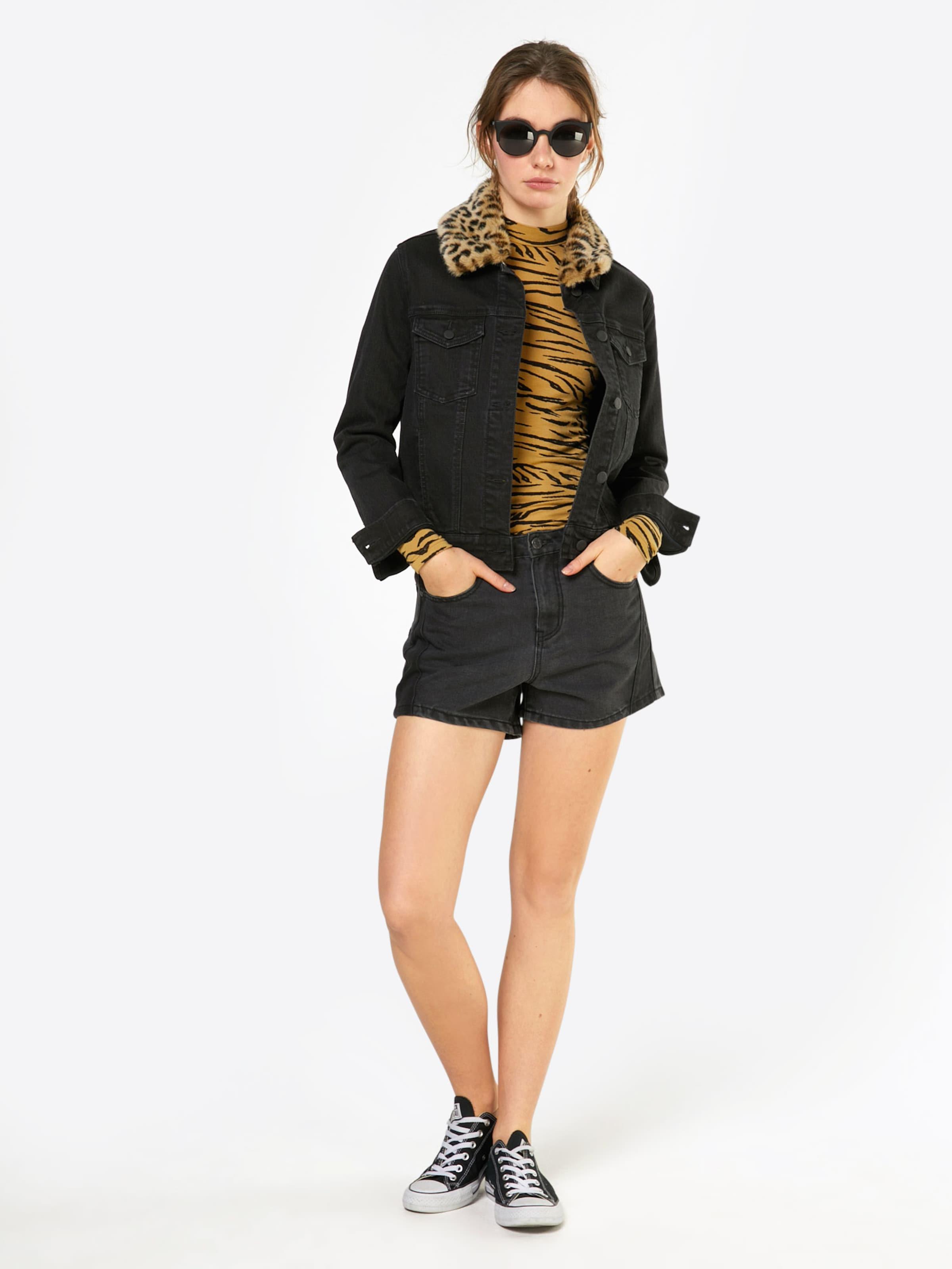 Shorts May Noisy In Black 'cutline' Denim CBordxe