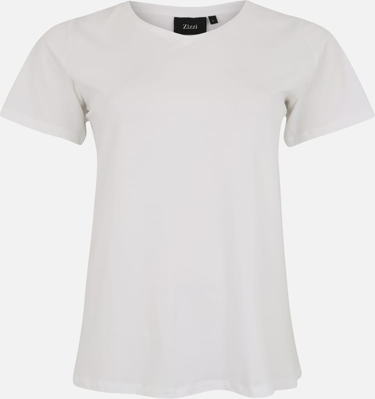 T Blanc shirt shirt Zizzi En Zizzi Blanc En T Yb2DH9WIEe