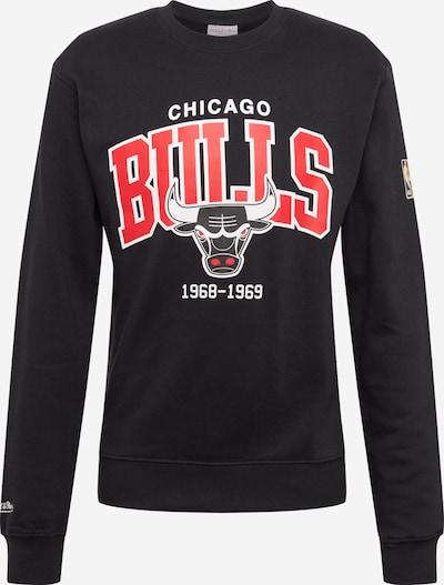 Mitchell & Ness Sweatshirt 'M&N HWC Arch Logo Crew' in rot / schwarz, Produktansicht