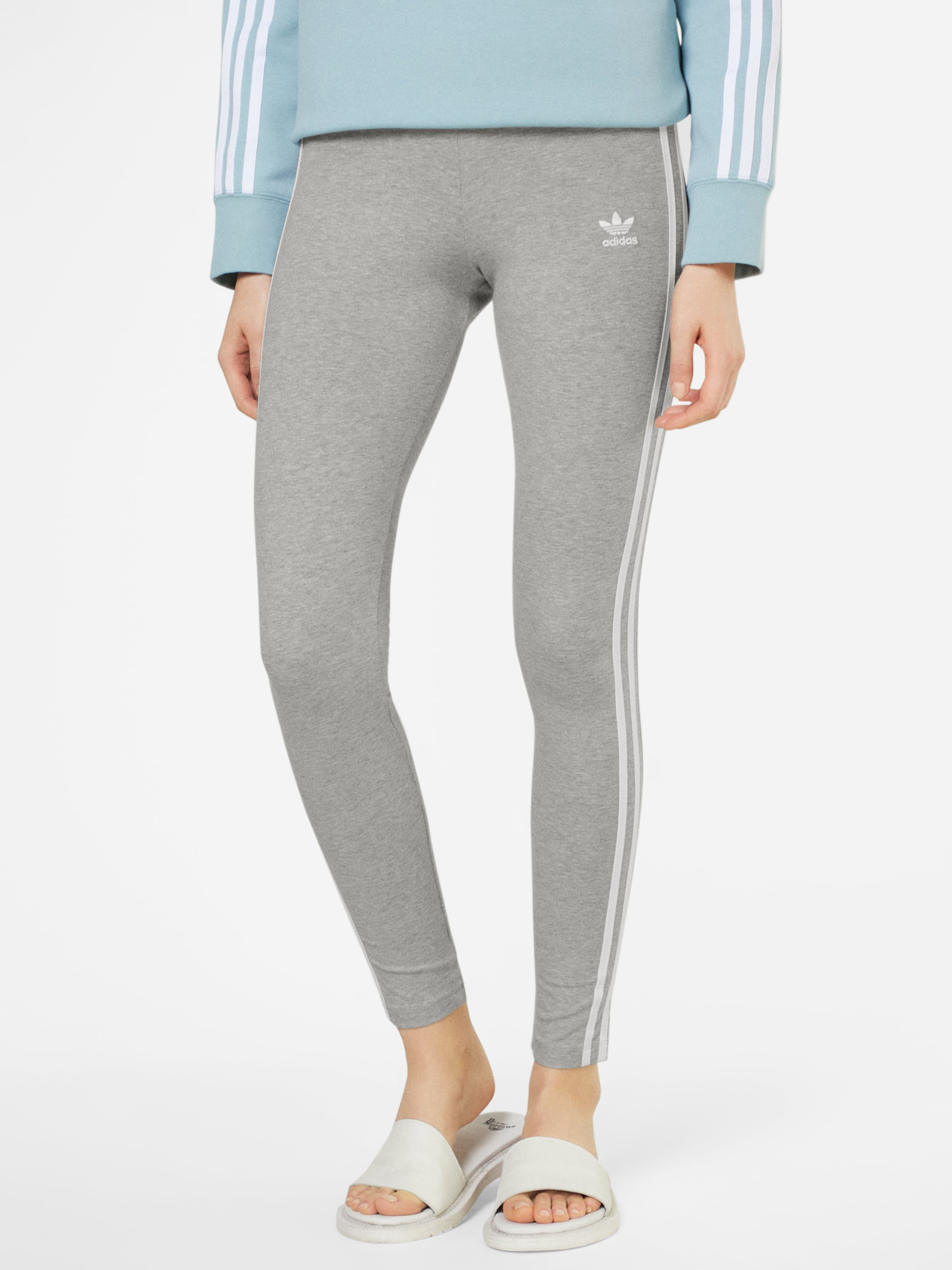 Stripes' En Originals '3 Adidas Leggings Gris ChinéBlanc nwO08Pk