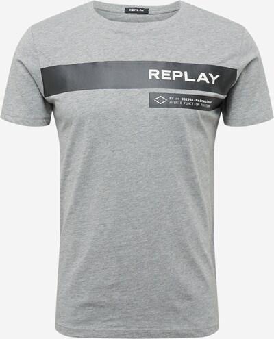 REPLAY TShirt in grau / schwarz / weiß, Produktansicht