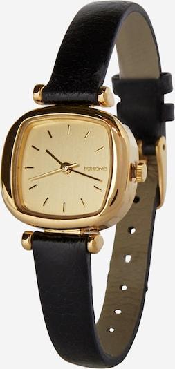 Komono Armbanduhr 'Moneypenny' in gold / schwarz, Produktansicht